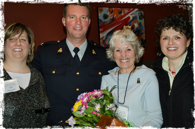 Julie Rosenthal, Sgt Rob Webb, Shirley Walker, Chris Pratt