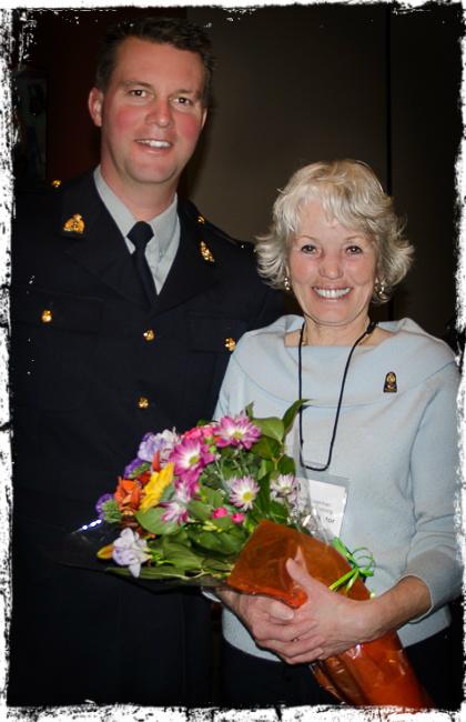 Sgt Rob Webb and Shirley Walker