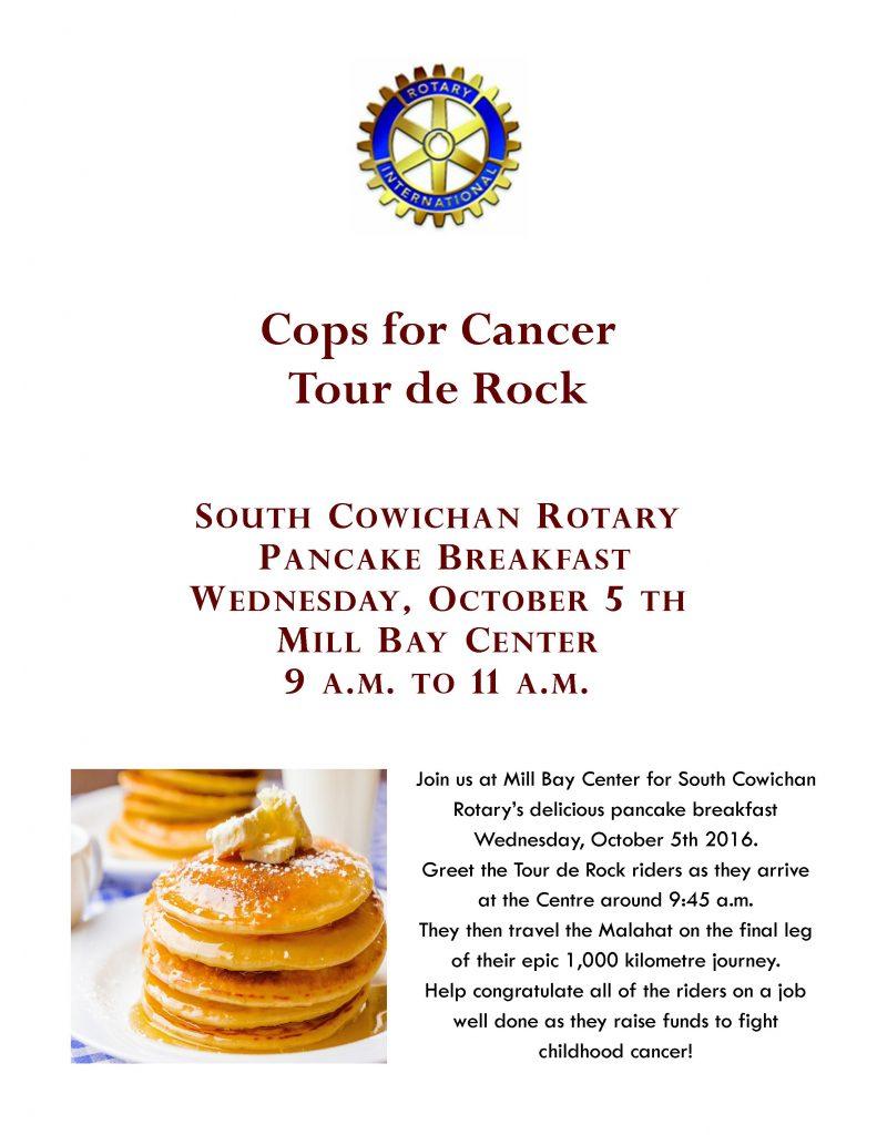 rotary pancake tour de rock cops for cancer