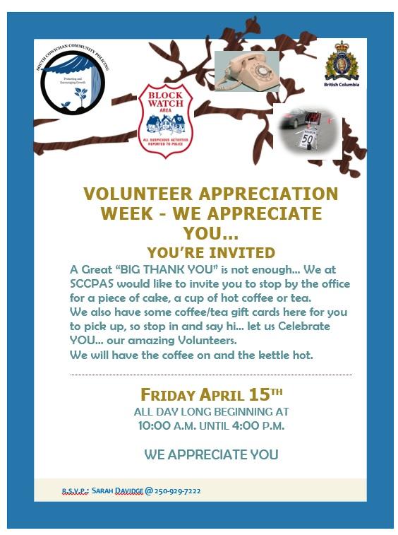 Volunteer Apprecaition Friday