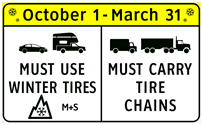 tires malahat safety winter M+S snowflake