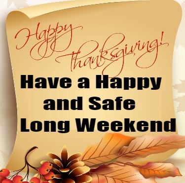 Drive Safetly Long Weekend Thanksgiving