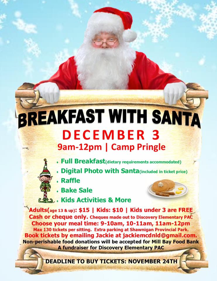 Breakfast With Santa Fund Raiser for Discovery School – South