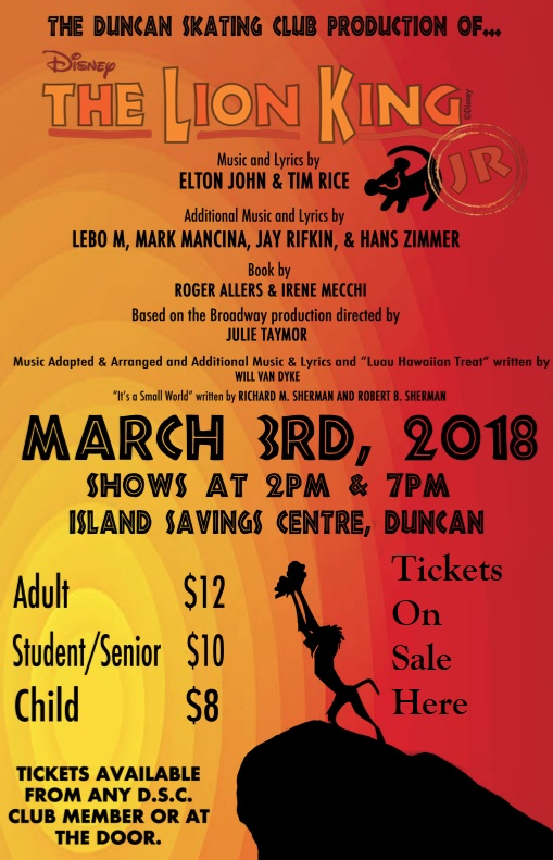 Lion King Duncan Skate Club