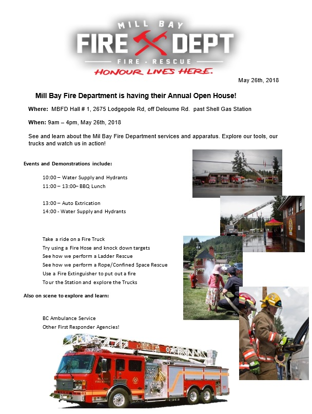 Mill Bay Fire Dept Open House