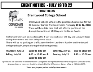 Triathlon BC Summer Games