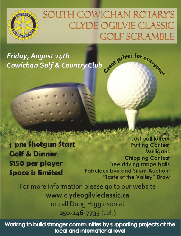 South Cowichan Rotary Clyde Ogilvie Golf Scramble