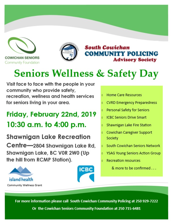 Seniors Wellness Safety Day