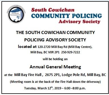 SCCPAS AGM Volunteer Community Policing Speed Watch